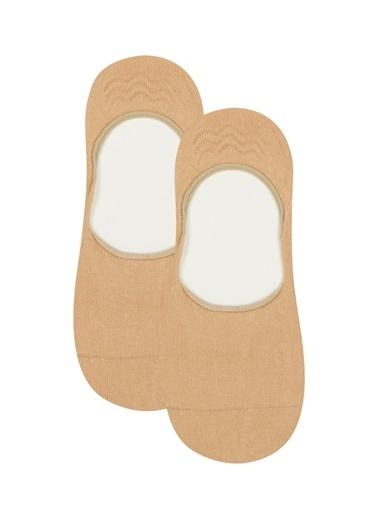 Penti Lacı Beyaz Erkek Çocuk Helios Görünmez Çorap 2Li Paket Ten